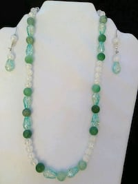 green and white beaded necklace Decatur, 30030