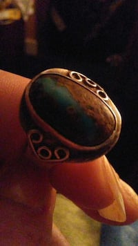 oval teal gemstone ring Parksville, V9P