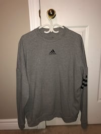Grey adidas crew neck sweater Brampton, L7A 3S8