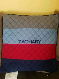 "Pottery barn personalized pillow cover  ""ZACHARY"""