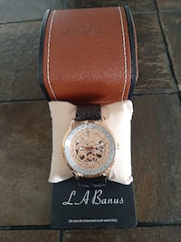 La Banus Men's Skeleton Mesh Bracelet Watch Toronto