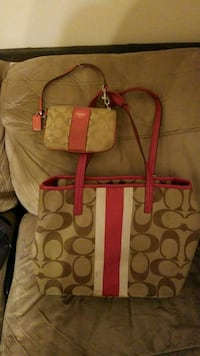 pink and brown Coach monogram tote bag Pleasant Grove, 35127