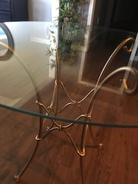 Glass top modern table Pearl, 39208