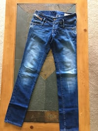 Blue-washed whiskered jeans. Negotiable  Alexandria, 22312