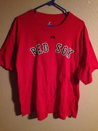 Men's Xl Ted Williams Boston Red Sox Red jersey Shirt By Majestic.. only worn one time in crispy nice and fresh and good condition..31' length 24' pit to pit  Cathedral City, 92234