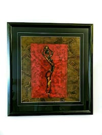 Original Abstract painting of an African Women