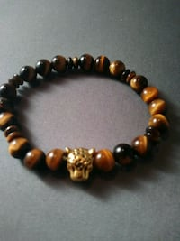 Tigereye bead diffuser bracelet with tiger head charm Nashua, 03060