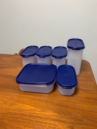 Tupperware container with lid.