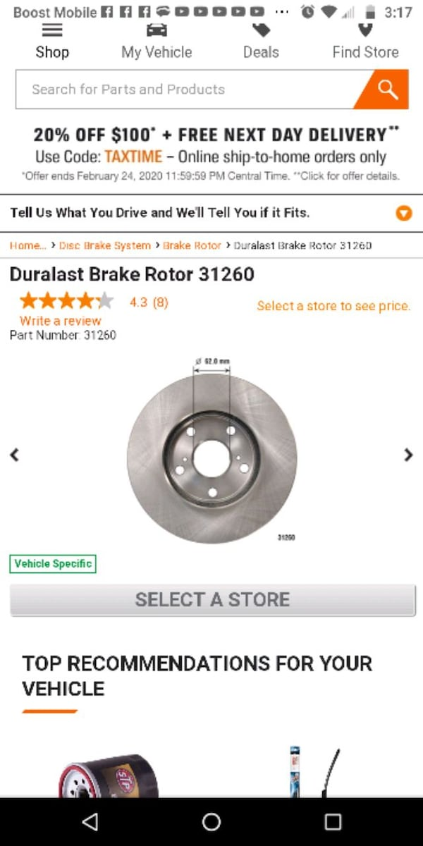 2 Universal (meaning fits in multiple cars ) brake rotors  3a6e7aa6-2fe6-4eed-9167-8c31bb7f023d