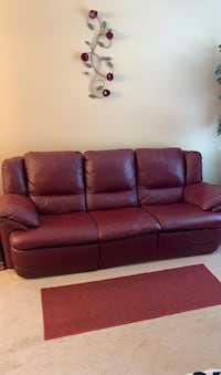 Leather Sofa with recliner and Reclining Chair