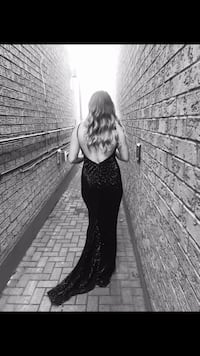 New Years Eve Gown, black sequins Toronto, M4K 2L5