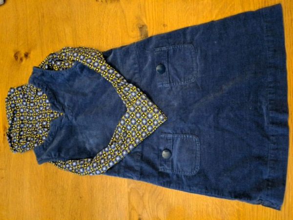 blue and brown denim bottoms