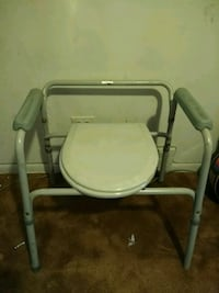 white and gray commode chair Chicago, 60636