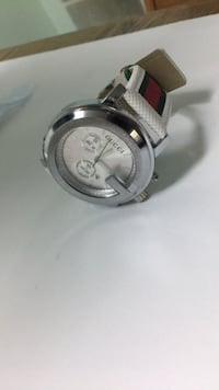 round silver-colored chronograph watch with link bracelet Germantown, 20874