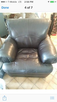black leather recliner sofa chair Stockton