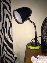 black and brown wooden table lamp Liberty, 64068
