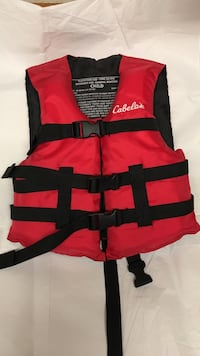 red and black Cabela's life vest Wallingford, 06492