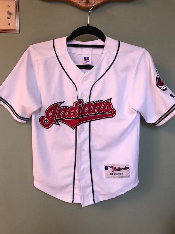big sale a3d5e 0e39c Vintage 1990's Russell Athletic Jim Thome #25 Cleveland Indians Jersey  Youth Size 8