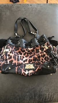 Women's black and brown leopard print leather bowler bag Middle Smithfield, 18302