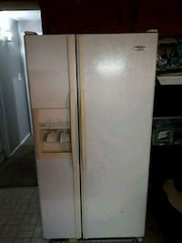 white side-by-side refrigerator with dispenser Germantown, 20874