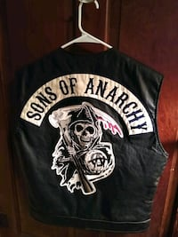 Black SONS OF ANARCHY leather vest