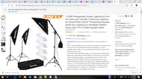 3 Light kit - used once $60 for video or photography Virginia Beach