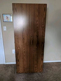 brown wooden 2-door wardrobe Gaithersburg, 20878