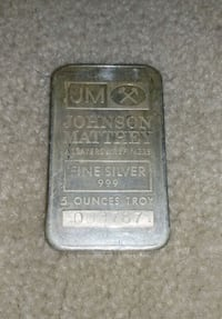 TD Bank JM Silver 5oz Silver Bar Markham