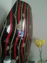 red and black home decor