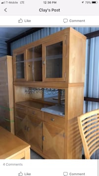 brown wooden TV hutch with flat screen television Pelion, 29123