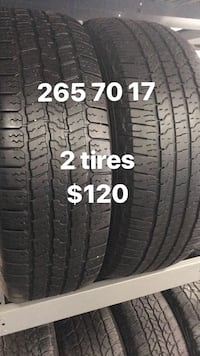 265 70 17 only 2 tires goodyear  Vaughan, L4L 3T4