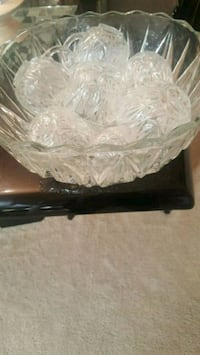 Glass Punch Bowl Set w/ 12 Cups Springdale, 20774