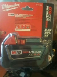 Milwaukee XC 5.0 red lithium ion battery Vancouver, V5L 1X3