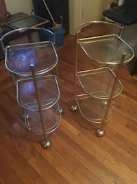 two clear glass-top tables New York, 10457