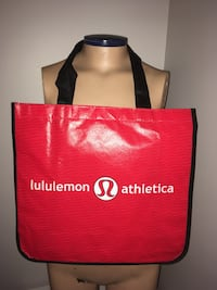 Lululemon Reusable Red tote bag French New Montréal, H4G 1M2