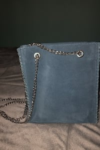 Zara blue suede bag