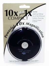 Floxite Elegant Compact in Cobalt Blue with a Crystal Medallion, Power Toronto