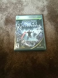 Star Wars Force Unleashed Xbox 360 game case Tecumseh, 49286