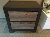 black and brown wooden nightstand