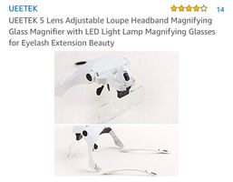 Brand new head magnifying glass with LED light