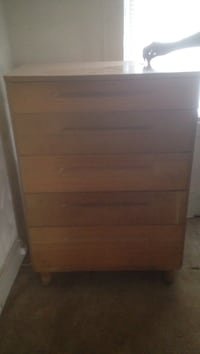 brown wooden 4-drawer chest (Used)