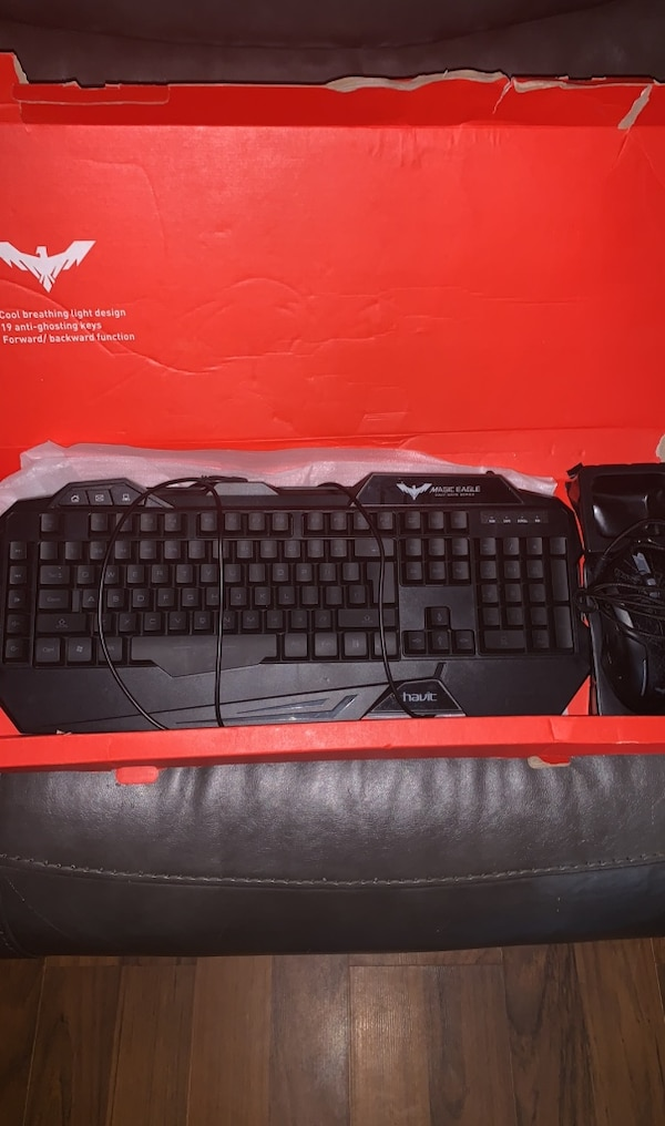 Gaming keyboard and mouse light up
