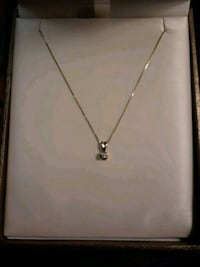 "14k Gold Diamond Necklace (16"") Toronto, M8V 3C8"
