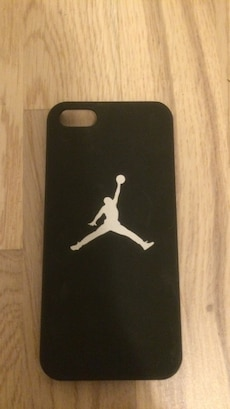 Svart Air Jordan print iphone case
