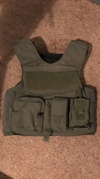 Level ll armor with radio pouch, double mag, and medkit pouch, and double cuff pouch on back Montgomery, 36109