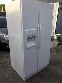 White side-by-side refrigerator with dispenser Los Angeles, 90063