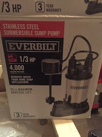 Everbuilt 1/3 HP Sump Pump HICKSVILLE