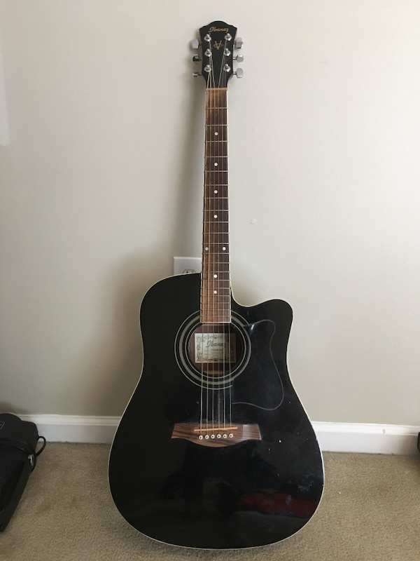 Used Black Ibanez Acoustic Electric Guitar For Sale In Fort Myers
