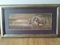 Elephant picture with frame Melbourne, 32935