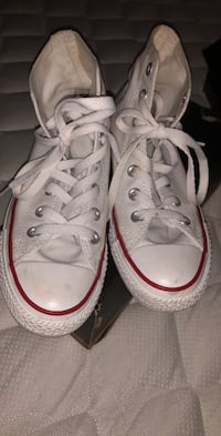 Pair of white converse all star high-top sneakers New Bern, 28562